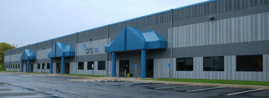 QTS Headquarters Blue-Gray Paint