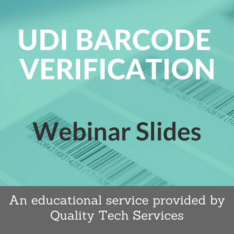 UDI Barcode Verification Webinar v2
